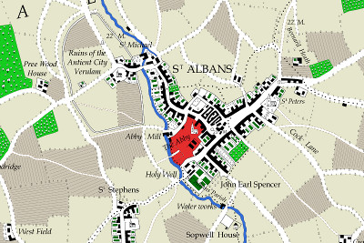Extract including St Albans